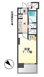 カーサプラスアルファ名駅南[5階]の間取り