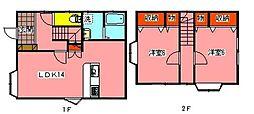 [一戸建] 千葉県鎌ケ谷市鎌ケ谷3丁目 の賃貸【/】の間取り