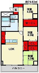 Livableなかま 6階3LDKの間取り