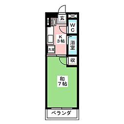 ホワイトハイム弥富[5階]の間取り