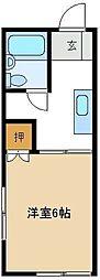 ヤマトハイツ千間台 201[2階]の間取り