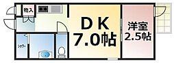 Osaka Metro千日前線 今里駅 徒歩5分の賃貸マンション 1階1DKの間取り
