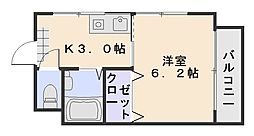 Bell紅菱[2階]の間取り