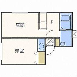 コスモN38[3階]の間取り