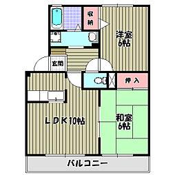 サンモール西井[2階]の間取り