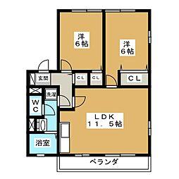 パティオ岩崎台[2階]の間取り