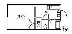 宮城県仙台市太白区八木山弥生町の賃貸アパートの間取り