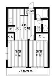 東京都練馬区富士見台3丁目の賃貸アパートの間取り