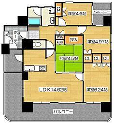 ルアンジュ都府楼[2階]の間取り
