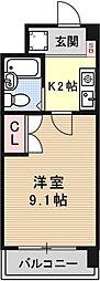 サンクリエートハヤシ壹號舘[1412号室号室]の間取り