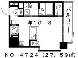 OAK弥栄・夕陽ヶ丘 Aタイプ[1階]の間取り
