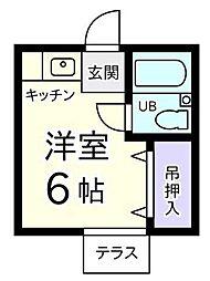 東京都昭島市中神町の賃貸アパートの間取り
