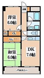 イーストヒル長田[4階]の間取り