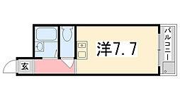 サンキュー・コート伊伝居[403号室]の間取り