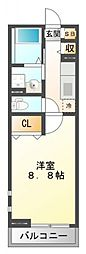 MATSU-KAZE II[2階]の間取り