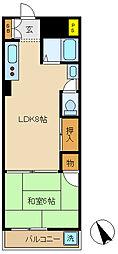 千葉県松戸市西馬橋広手町の賃貸マンションの間取り
