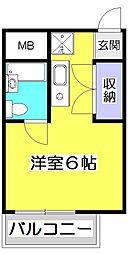 アメニティコウヤマ第6ガーデン[2階]の間取り