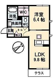 シャーメゾン東本町[A101号室]の間取り