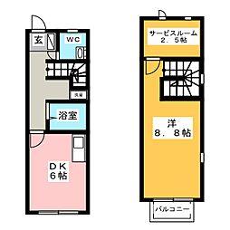 ドルチェ高島B棟[2階]の間取り