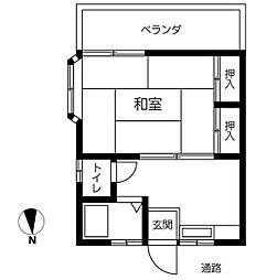 東京都江戸川区中葛西3丁目の賃貸アパートの間取り