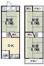 [テラスハウス] 大阪府守口市八雲東町2丁目 の賃貸【/】の間取り