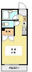 神奈川県川崎市多摩区生田8の賃貸マンションの間取り