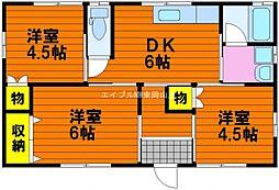 [一戸建] 岡山県岡山市中区米田丁目なし の賃貸【/】の間取り