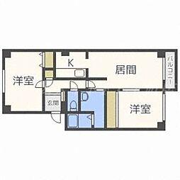 北海道札幌市東区北三十一条東17丁目の賃貸マンションの間取り