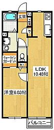 Con citta京成中山[101号室]の間取り
