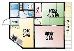 セレーネ六甲道[2階]の間取り