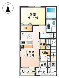 裾野市金沢 新築アパート[00101号室]の間取り