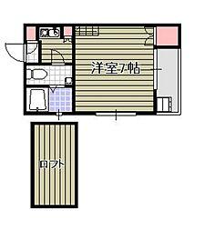 マリノアサンセット[1階]の間取り