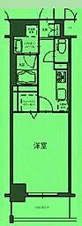 東京都台東区竜泉の賃貸マンションの間取り