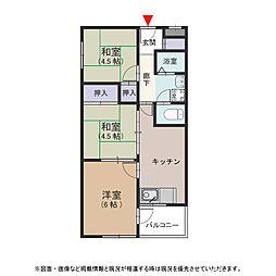 石切パークサイドマンション[105号室号室]の間取り