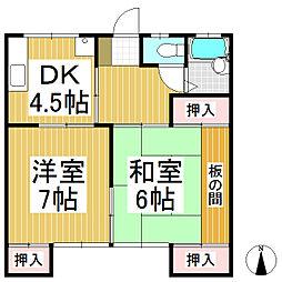 ハイツ福島[2階]の間取り