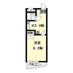 サンシティ中野島第2[302号室]の間取り