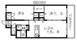 グラート西田辺[10階]の間取り
