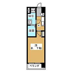 プレサンスNEO京都烏丸[4階]の間取り