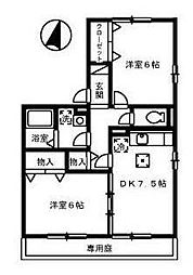 リッツハウス上野[101号室]の間取り