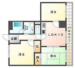 庄立マンション[4階]の間取り