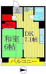 常盤平コーポ[4階]の間取り