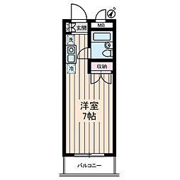 コンフォート文華[2階]の間取り