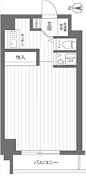 スカイコート武蔵関・伊勢亀ビル イセガメビル[206号室]の間取り