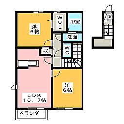 Lovely・KII[1階]の間取り