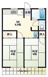 ハイツ木村[2階]の間取り