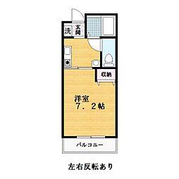 キュービック119[3階]の間取り