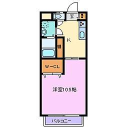 プラザラフォーレ3[2階]の間取り