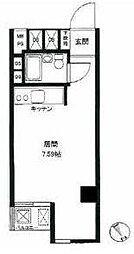 東京都港区赤坂7丁目の賃貸マンションの間取り
