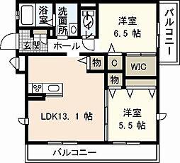 Lien (リアンエイト)[2階]の間取り