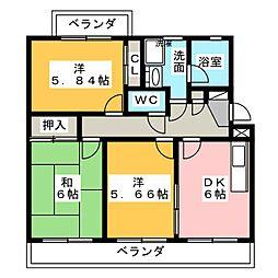 ファインコート[2階]の間取り